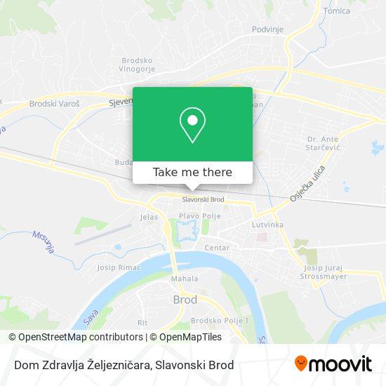 Dom Zdravlja Željezničara map