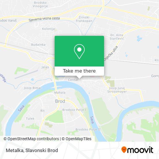 Metalka map