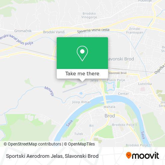 Sportski Aerodrom Jelas map