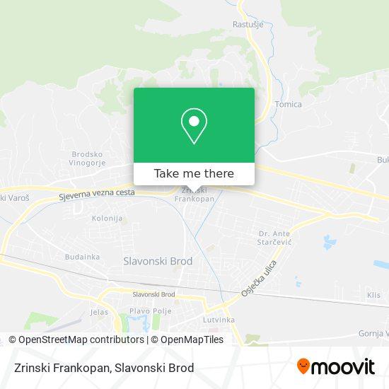 Zrinski Frankopan map