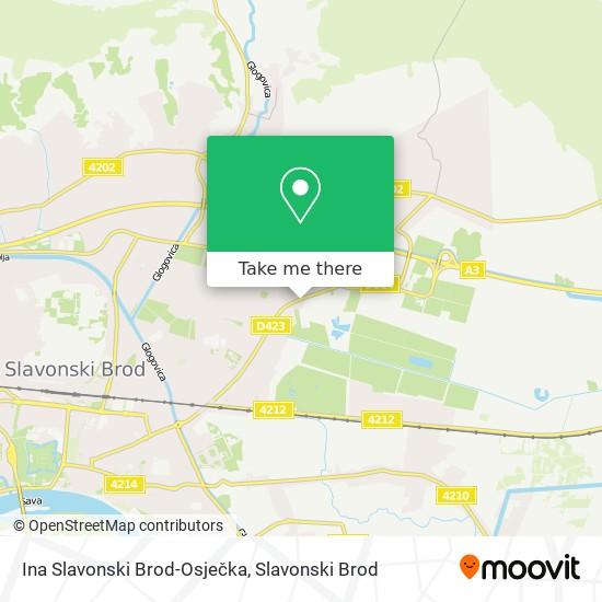 Ina Slavonski Brod-Osječka map