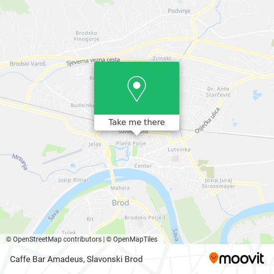 Caffe Bar Amadeus map