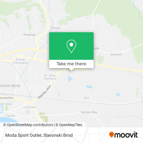 Moda Sport Outlet map