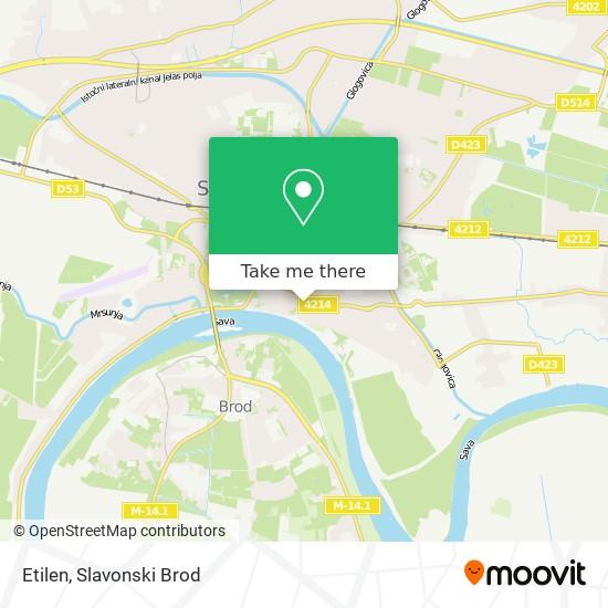 Etilen map