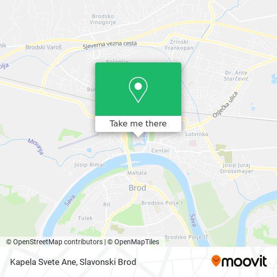 Kapela Svete Ane map