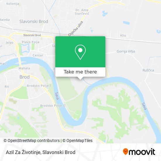 Azil Za Životinje map