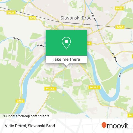 Vidic Petrol map