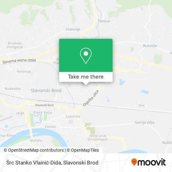 Šrc Stanko Vlainić-Dida map