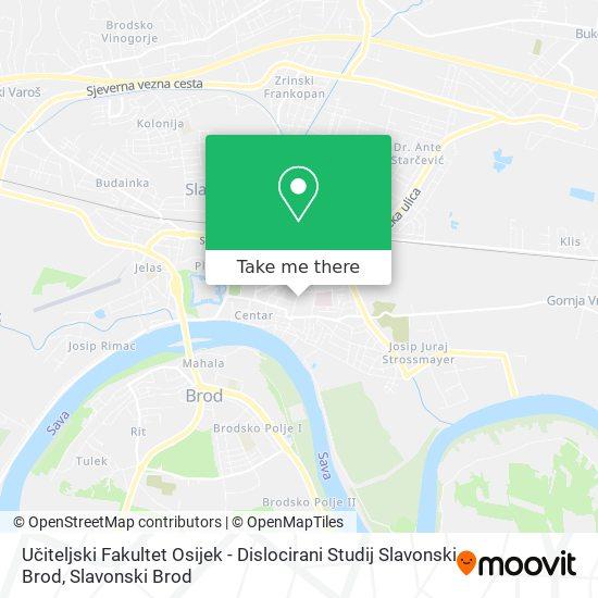 Učiteljski Fakultet Osijek - Dislocirani Studij Slavonski Brod map