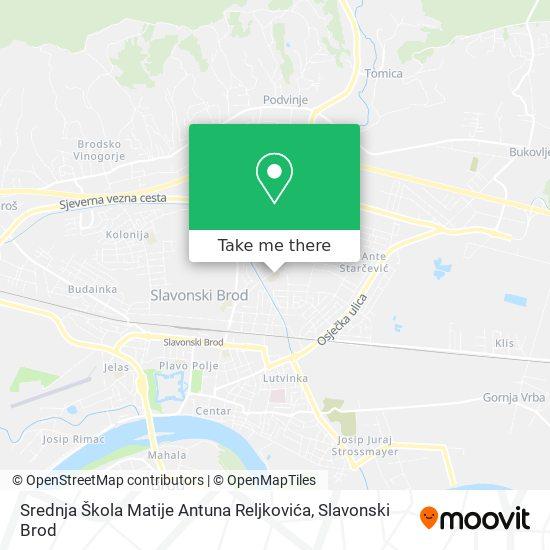 Srednja Škola Matije Antuna Reljkovića map