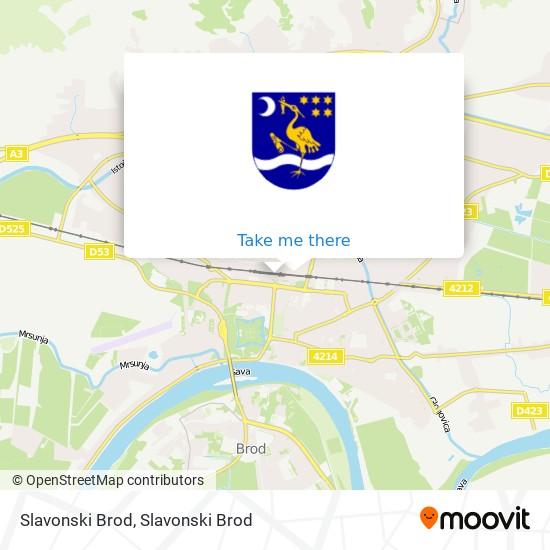 Slavonski Brod map