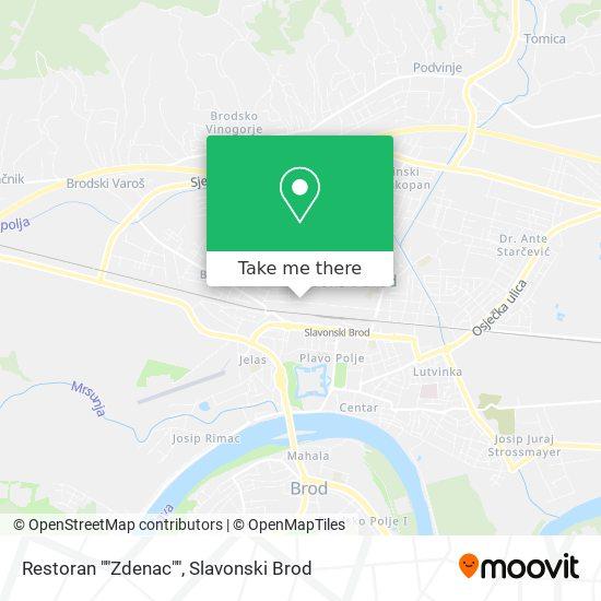 "Restoran ""Zdenac"" map"