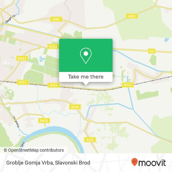 Groblje Gornja Vrba map