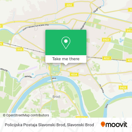Policijska Postaja Slavonski Brod map