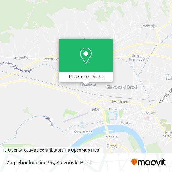 Zagrebačka ulica 96 map
