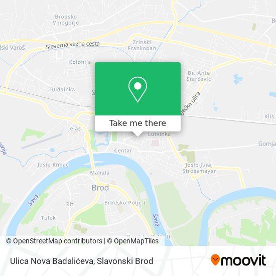 Ulica Nova Badalićeva map
