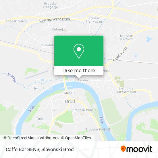 Caffe Bar SENS map