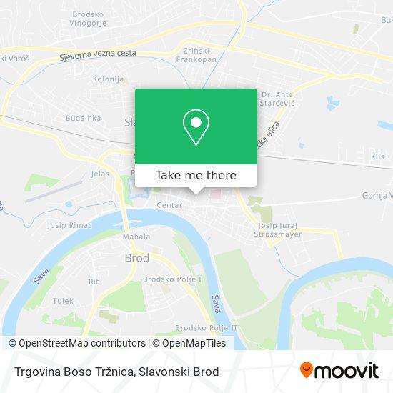 Trgovina Boso Tržnica map