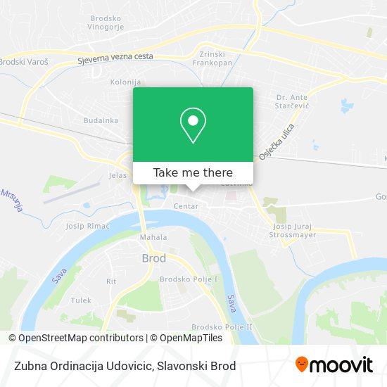 Zubna Ordinacija Udovicic map