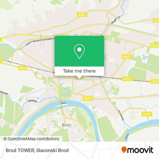 Brod TOWER map