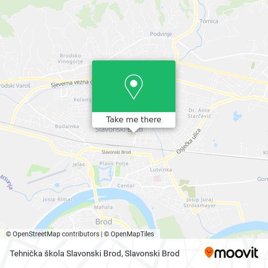 Tehnička škola Slavonski Brod map