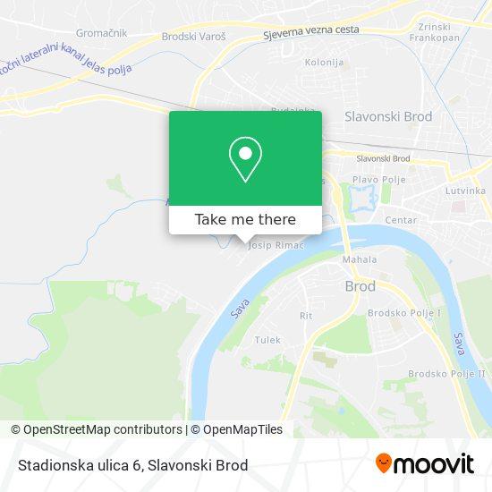 Stadionska ulica 6 map