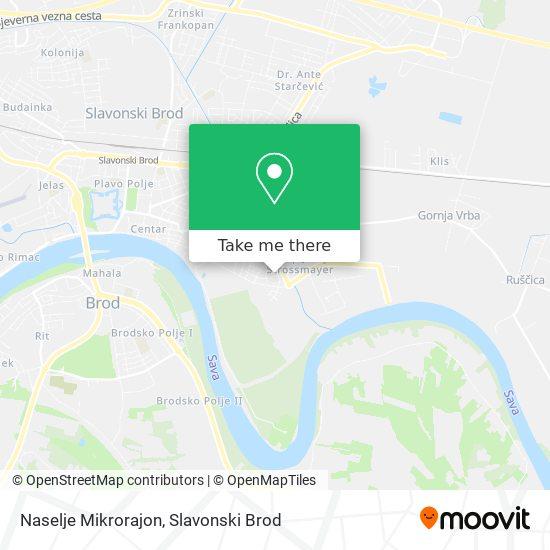 Naselje Mikrorajon map