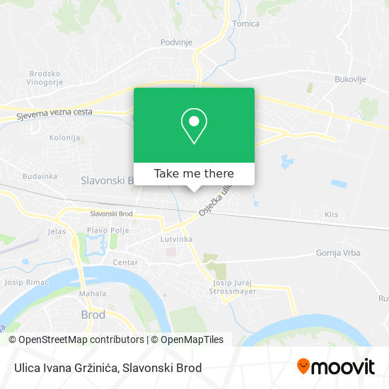 Ulica Ivana Gržinića map