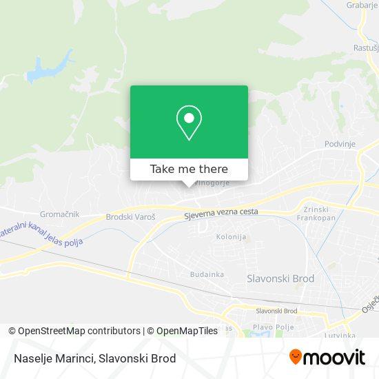 Naselje Marinci map