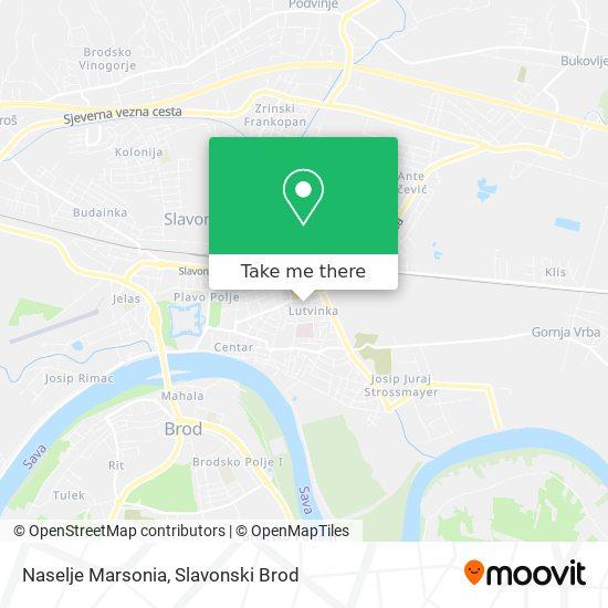 Naselje Marsonia map