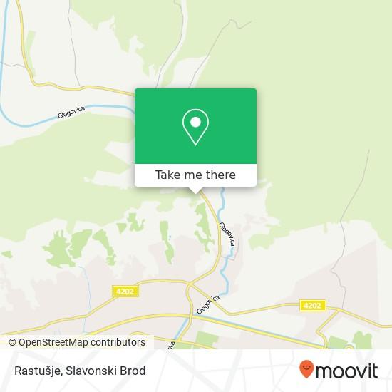 Rastušje map