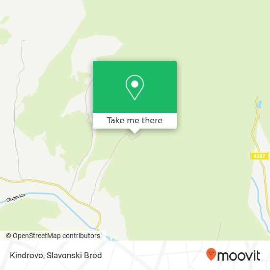 Kindrovo map