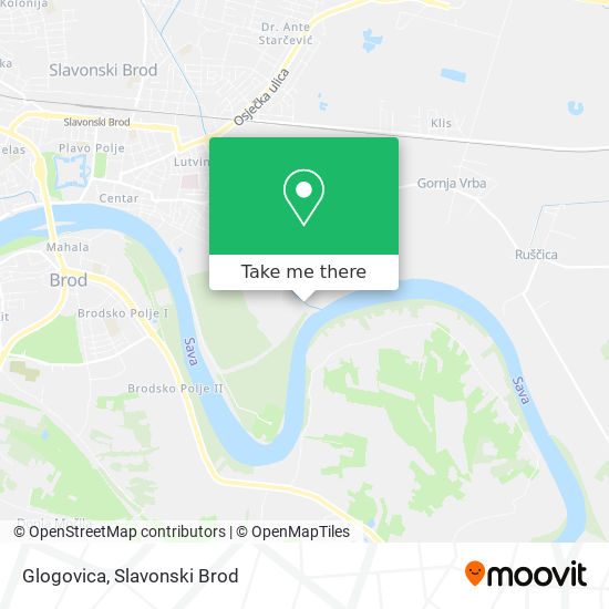 Glogovica map