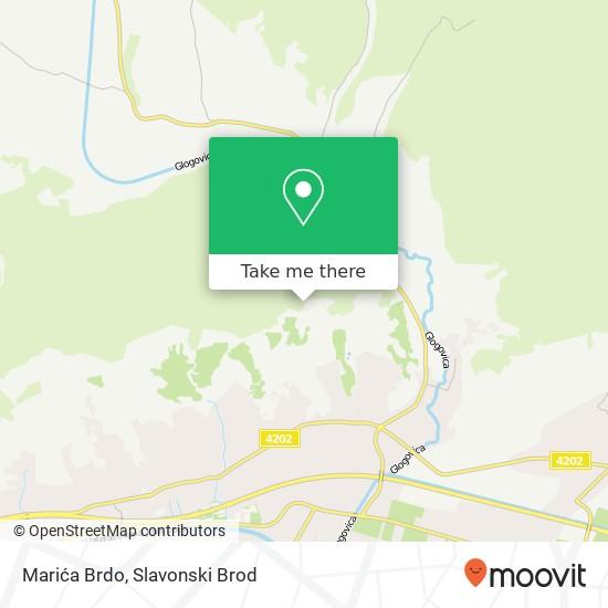 Marića Brdo map
