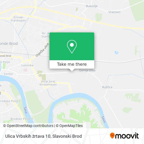 Ulica Vrbskih žrtava 10 map