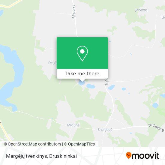 Margėjų tvenkinys map
