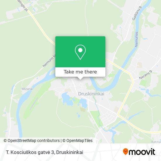 T. Kosciuškos gatvė 3 map