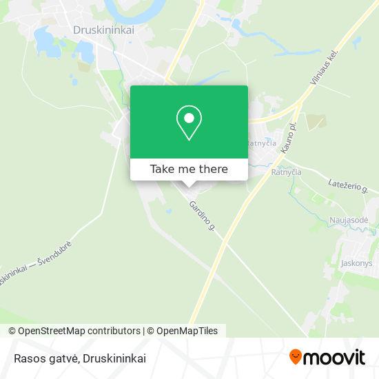 Rasos gatvė map