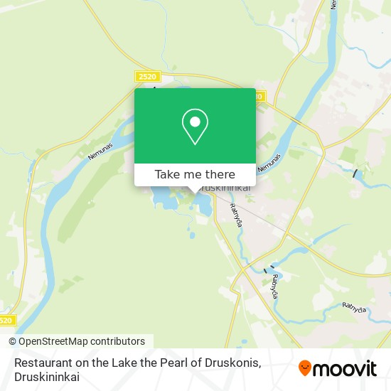 Restaurant on the Lake the Pearl of Druskonis map