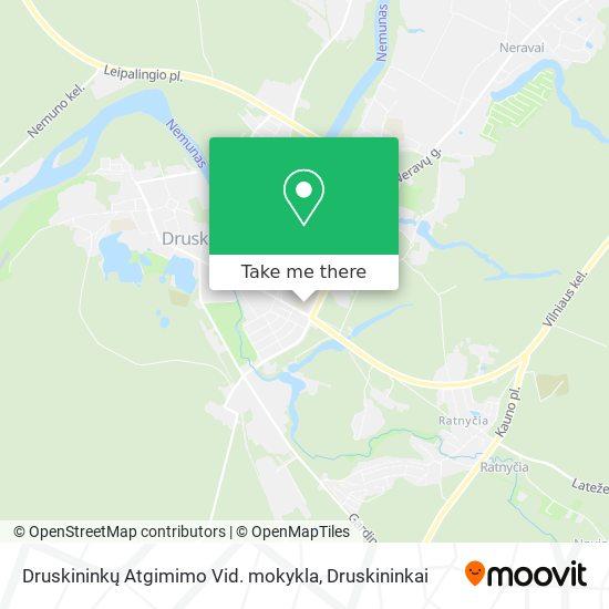 Druskininkų Atgimimo Vid. mokykla map