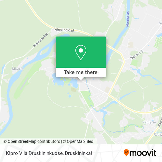 Kipro Vila Druskininkuose map