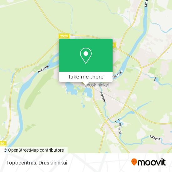 Topocentras map