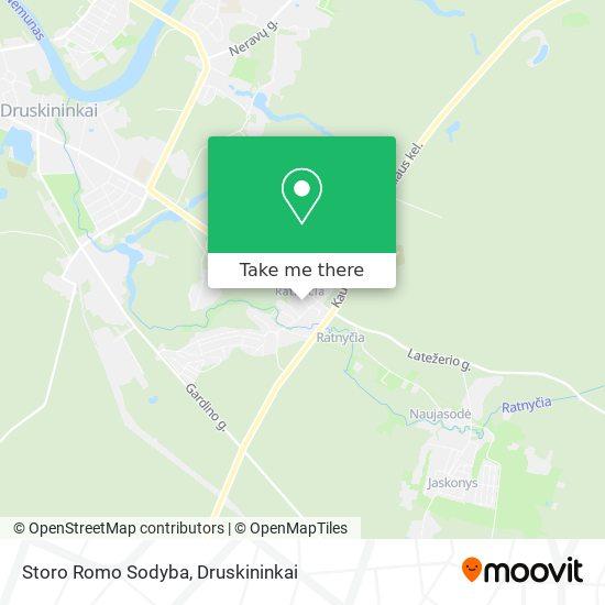 Storo Romo Sodyba map