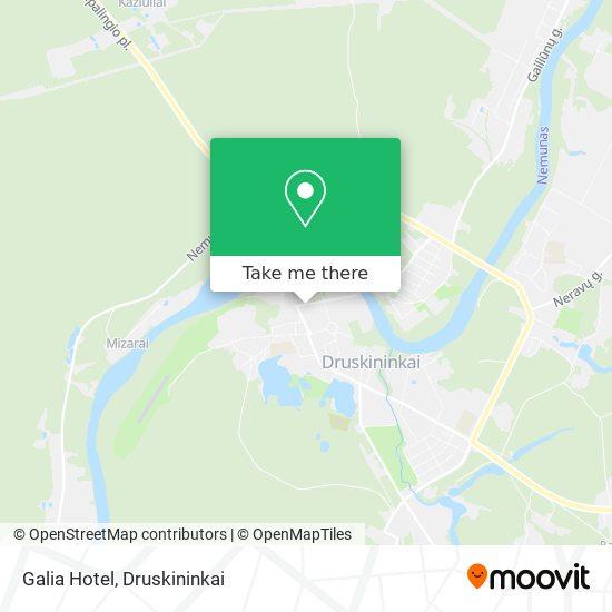 Galia Hotel map