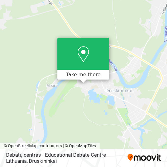 Debatų centras - Educational Debate Centre Lithuania map