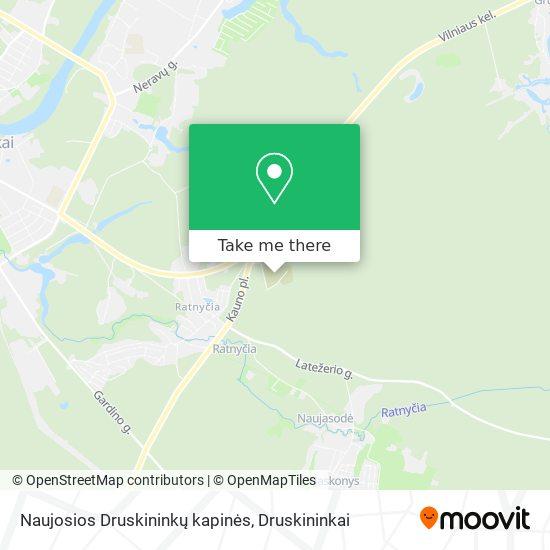 Naujosios Druskininkų kapinės map