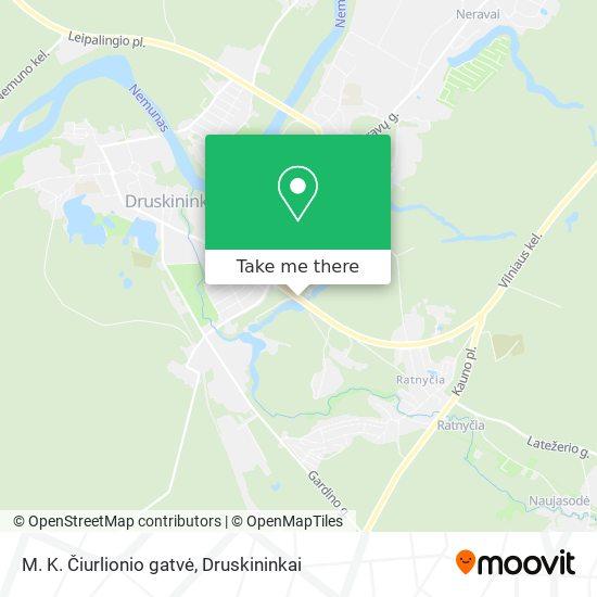 M. K. Čiurlionio gatvė map