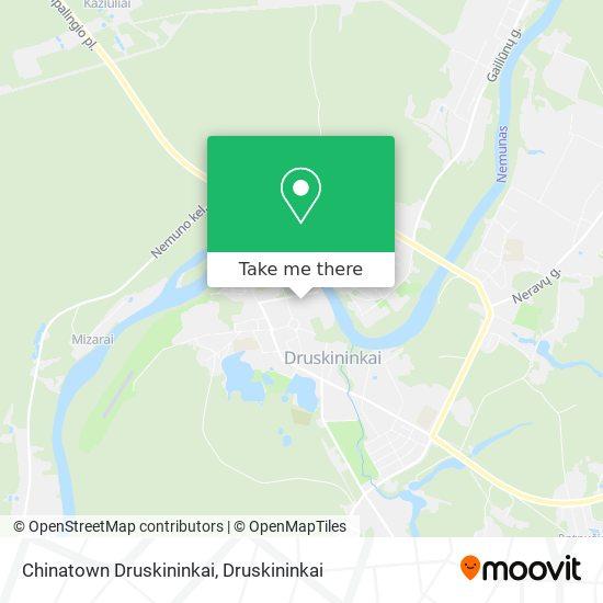 Chinatown Druskininkai map
