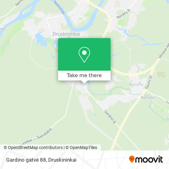 Gardino gatvė 88 map
