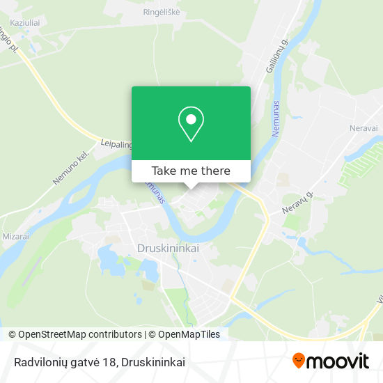 Radvilonių gatvė 18 map